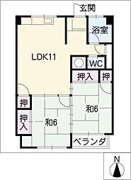メゾン・ド・タマキ[4階]の間取り