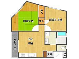 御園第1マンション[3階]の間取り