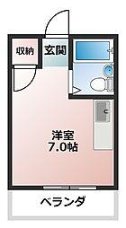 ハイム藤井[2階]の間取り