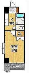 ウインズ浅香Ⅰ[5階]の間取り