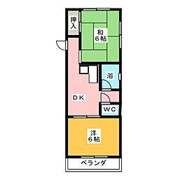 サンシャイン藤2[2階]の間取り