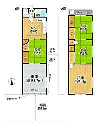 JR関西本線 東部市場前駅 徒歩10分 4DKの間取り