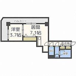 PRIME URBAN札幌 RIVER FRONT[4階]の間取り