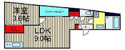 大阪府大阪市西区北堀江4丁目の賃貸マンションの間取り