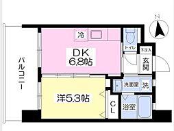 フェルト127[13階]の間取り