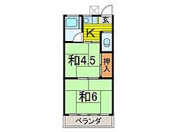 鈴亀荘[8号室号室]の間取り