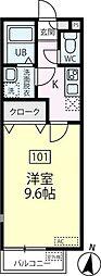 東京都大田区池上3丁目の賃貸アパートの間取り