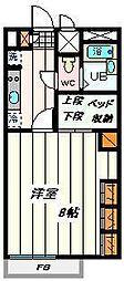 埼玉県さいたま市見沼区東大宮2の賃貸アパートの間取り