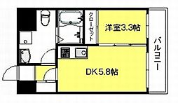 ルネッサンス21博多[5階]の間取り