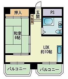 103大稲マンション[305号室]の間取り