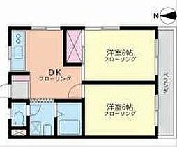 三橋ハイツ[3階]の間取り