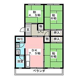 丸ノ内コーポ[5階]の間取り