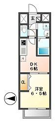 メイボーテセラ(MEIBOU TESERA)[4階]の間取り