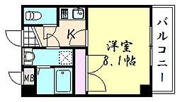 プロシード東小橋[301号室]の間取り