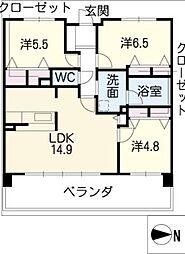will Do黒川[8階]の間取り