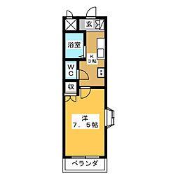 アネックスフジヤ2[2階]の間取り