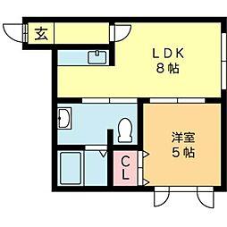 北海道札幌市北区北二十八条西3丁目の賃貸マンションの間取り