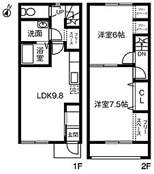 Maison de Sray II(メゾンドサライ)B[103号室]の間取り