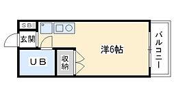 レンタルハウス深津I[201号室]の間取り