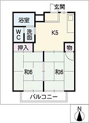 パレス3・1 A棟[1階]の間取り