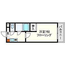 新大阪アネックス土井マンションA棟[2階]の間取り