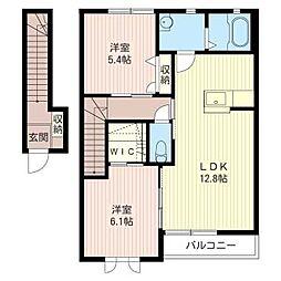 ティンカーベルI[2階]の間取り