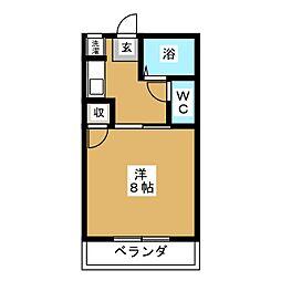 ベルズコートII[2階]の間取り