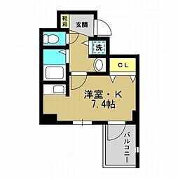 スワンズシティ大阪WEST[2階]の間取り