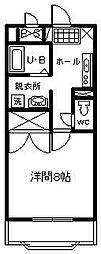 サンライズ山田[205号室]の間取り