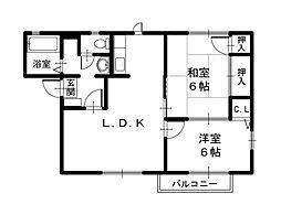 豊岡市伏 ハイツ花水木[2階]の間取り