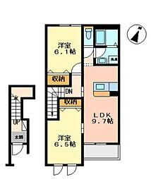 ワイワイハウス杉木田[1階]の間取り