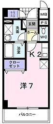 ベルフォーレ[2階]の間取り