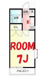 神奈川県横浜市旭区中尾1丁目の賃貸アパートの間取り