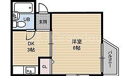 エンビィロイヤルハイツ都島[3階]の間取り