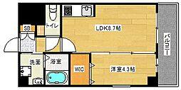 アンフィニ18吹田昭和町 4階1LDKの間取り