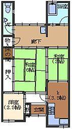 福田福原住宅2号室[2号室号室]の間取り