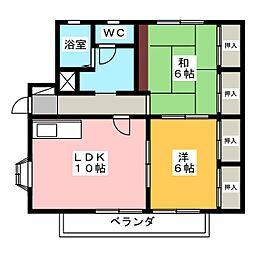 フォレストII[2階]の間取り