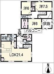 [一戸建] 三重県津市大谷町 の賃貸【/】の間取り