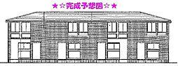 東京都立川市幸町2丁目の賃貸アパートの外観