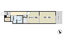 朝日プラザ船場[3階]の間取り