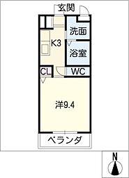 テージスII[3階]の間取り