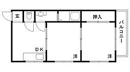 兵庫県神戸市須磨区妙法寺円満林の賃貸アパートの間取り
