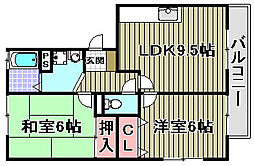 パークハウス一・二番館[1-203号室]の間取り