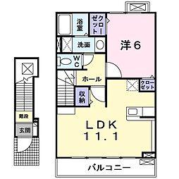 ソレアードユニティI[2階]の間取り