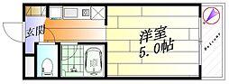 メゾンクラーラ[1階]の間取り