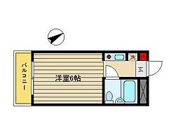東京都世田谷区用賀3丁目の賃貸マンションの間取り