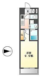 リシュドール鶴舞公園[13階]の間取り
