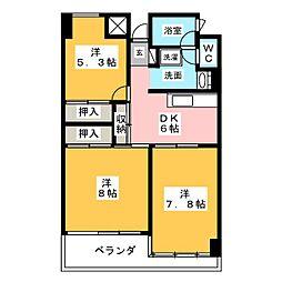 サンシャイン菊平ビル[10階]の間取り