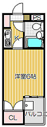 東京都目黒区下目黒3丁目の賃貸マンションの間取り