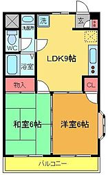 エクセルY[3階]の間取り